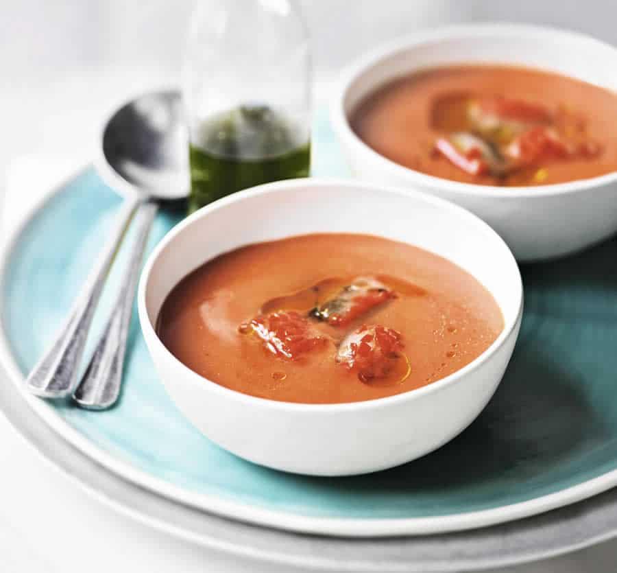 Soupe aux tomates et piment au Thermomix