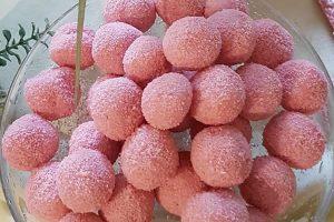 Truffes aux biscuits roses de Reims au Thermomix