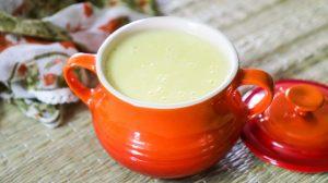 Crème aux oeufs et à la pomme au Thermomix