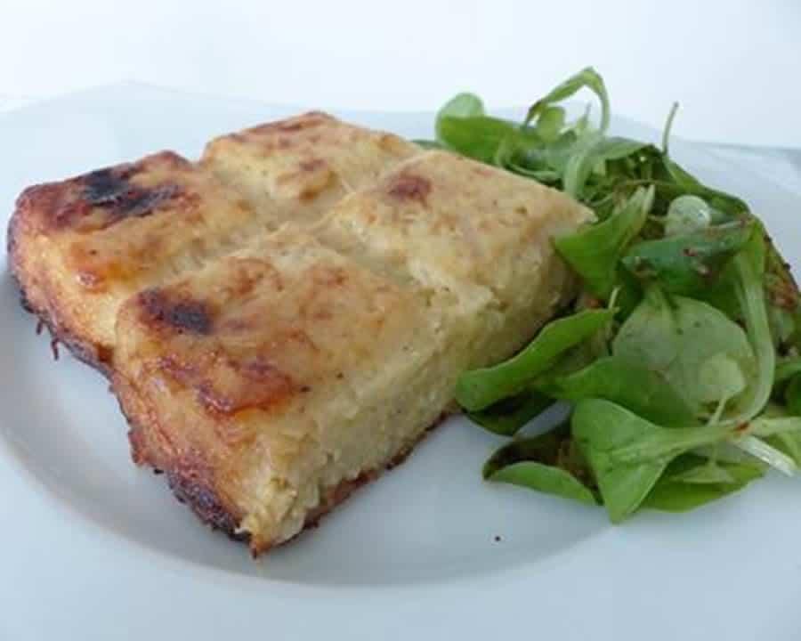 Gâteau de pommes de terre aux oignons au Thermomix