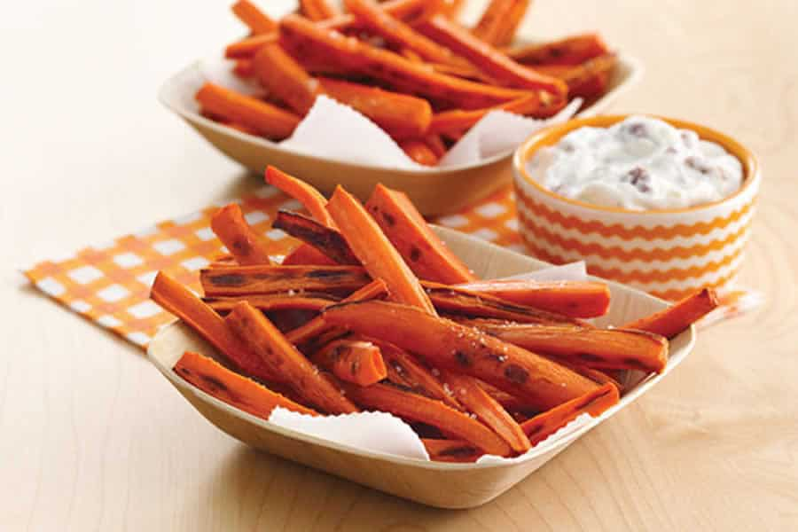 Frites de carottes au four au Thermomix