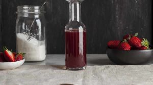Sirop de fraises naturel au Thermomix
