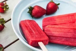 Sorbets aux fraises en bâtonnets au Thermomix