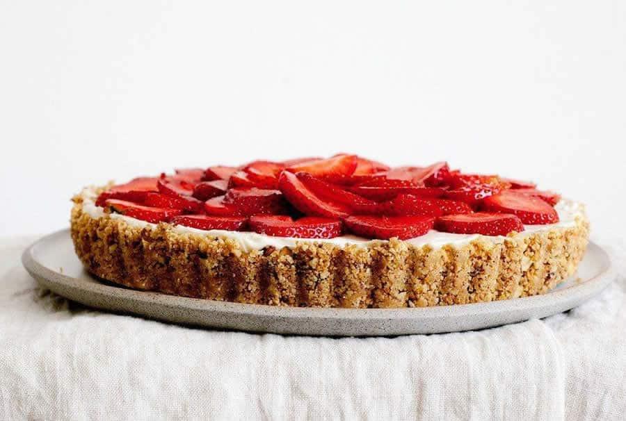 Tarte aux fraises et spéculoos au Thermomix