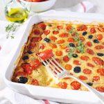Clafoutis aux tomates cerises et au chèvre au Thermomix
