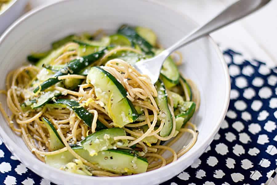 Spaghetti aux courgettes au Thermomix