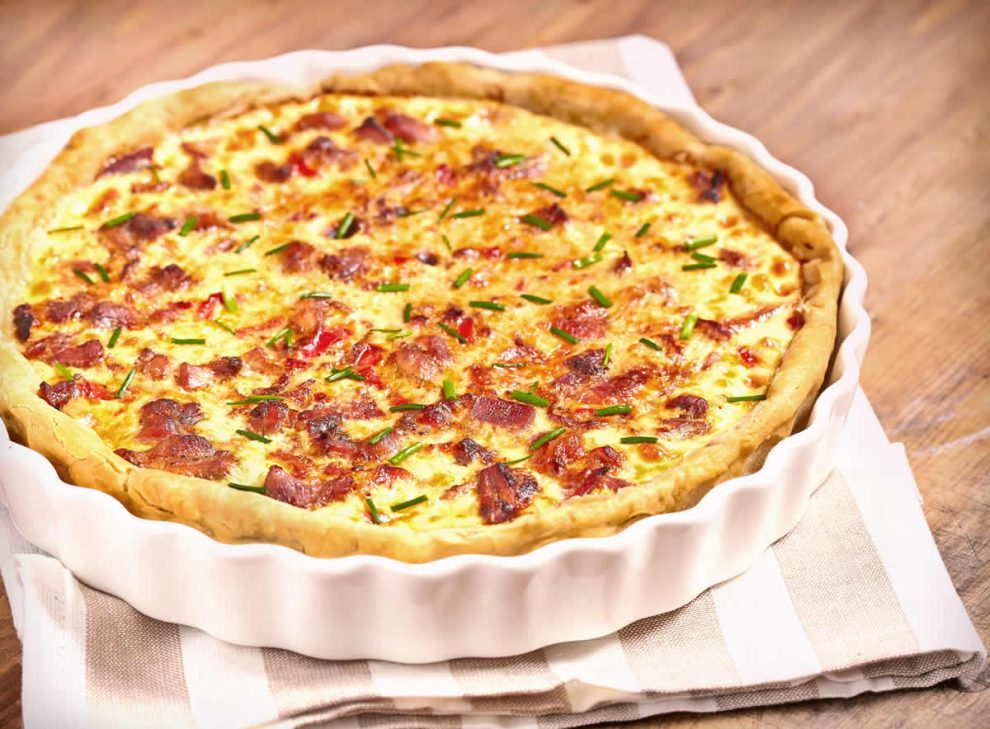 Tarte courgette tomate bacon au Thermomix