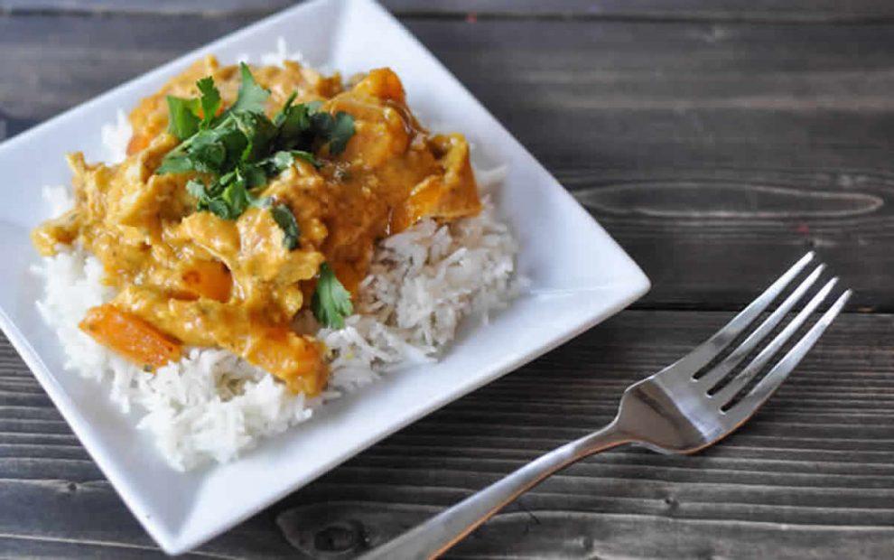 Curry de dinde au lait de coco au Thermomix
