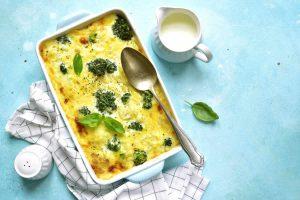 Gratin de pâtes brocolis roquefort au Thermomix