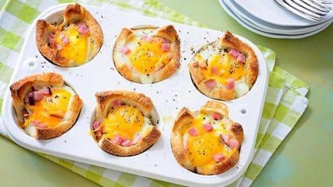 Muffins aux œufs et jambon au Thermomix