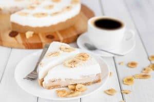 Gâteau à la banane et au caramel sans cuisson